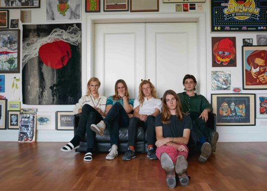 Photo of Parcels featured on Hidden Herd new music blog