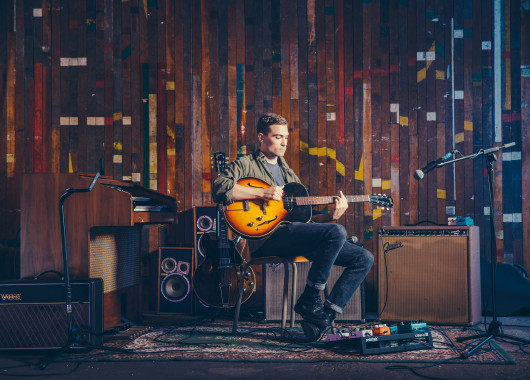 Photo of Rhys Lewis featured on Hidden Herd new music blog